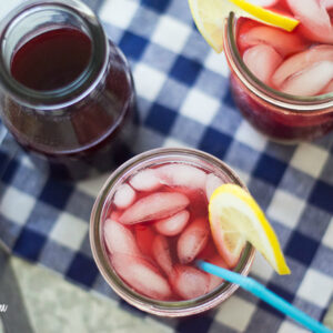 Blackberry Iced Tea recipe Sweet Swaps via flouronmyface.com
