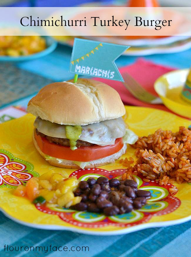 Celebrate your next Fiesta with a Chimichurri Turkey Burger and save on all the ingredients with Targets Cartwheel deals #AmpUpYourFiesta #ad