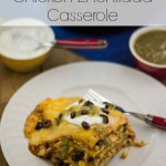 Crock Pot Chicken Enchilada Casserole recipe via flouronmyface.com