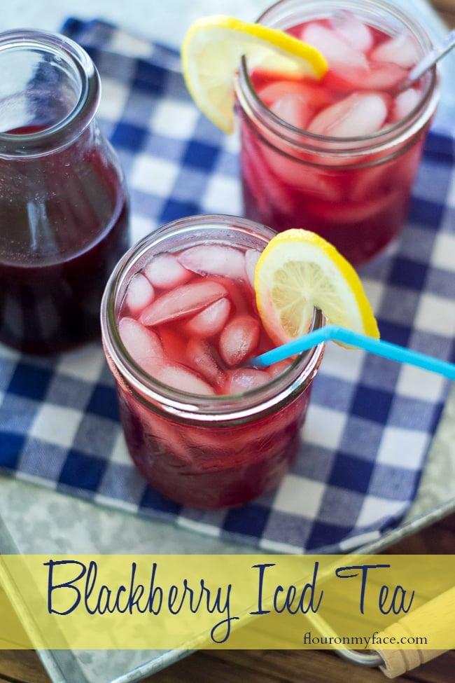Fruity Blackberry Iced Tea recipe made with SPLENDA for a #SweepSwap via flouronmyface.com