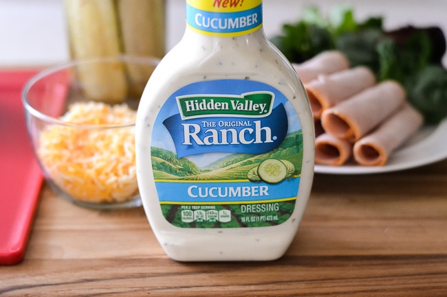 Cucumber Ranch Turkey Wraps ingredients via flouronmyface.com