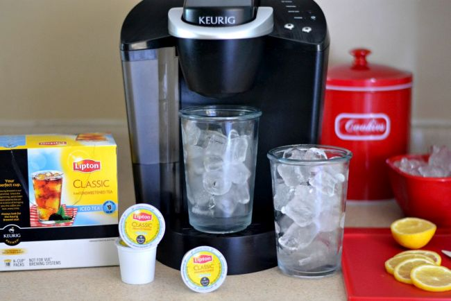 How to brew Lipton Iced Tea in a Keurig via flouronmyface.com