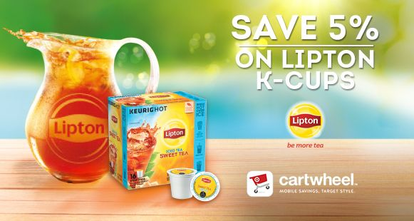 Lipton K-Cups Cartwheel offers at Target via flouronmyface.com