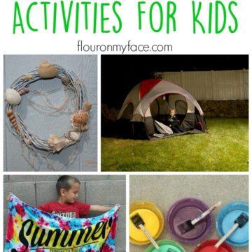 25 Summer Activities for Kids via flouronmyface.com