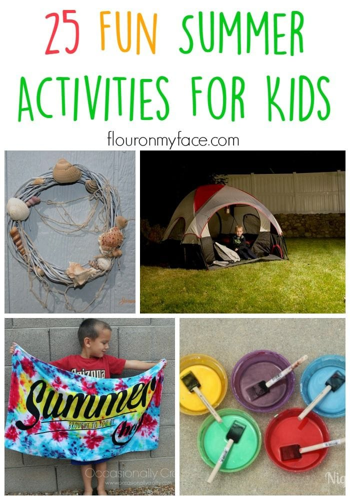 25 Summer Activities for Kids via flouronmyface.com