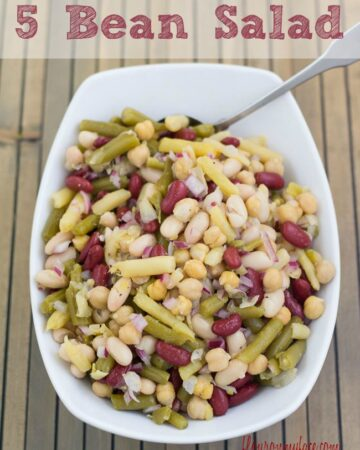 5 Bean Salad recipe is a perfect summer side dish recipe. This Bean Salad recipe is a light and healthy side dish