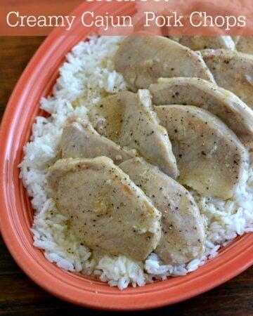 Cream Cajun Pork Chop recipe via flouronmyface.com