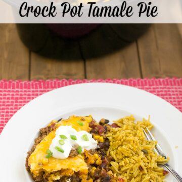 This Crock Pot Tamale Pie recipe via flouronmyface.com is crock pot re cipe number 28 in the 52 Crock Pot Recipes of 2015 series.