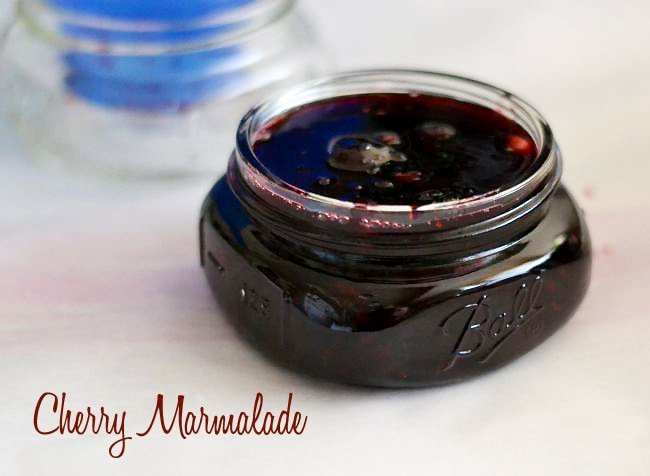 Easy Cherry Marmalade recipe via flouronmyface.com