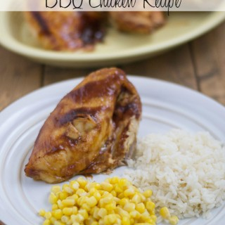 Easy Crock Pot BBQ Chicken Recipe via flouronmyface.com