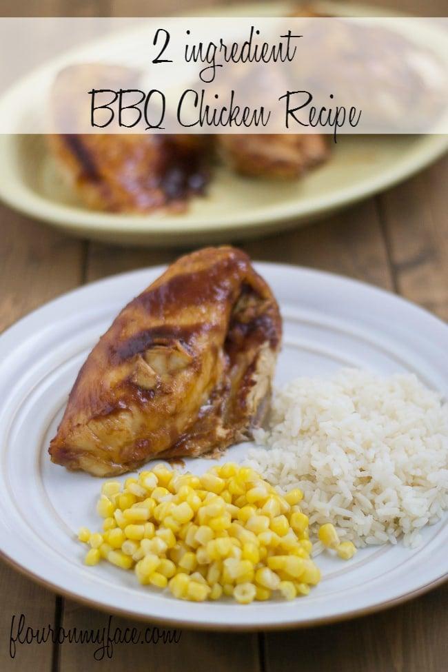 Easy Crock Pot BBQ Chicken Recipe via flouronmyface.com