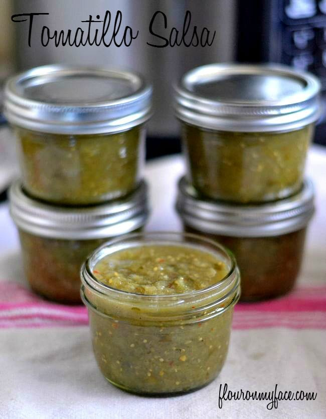 Tomatillo Salsa recipe from the new Ball Blue Book of Preserving via flouronmyface.com