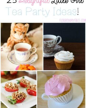 25 Little Girl Tea Party Ideas via flouronmyface.com