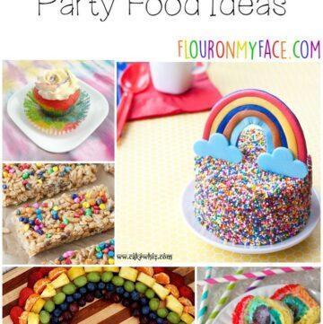 25 Rainbow Party Food Ideas via flouronmyface.com