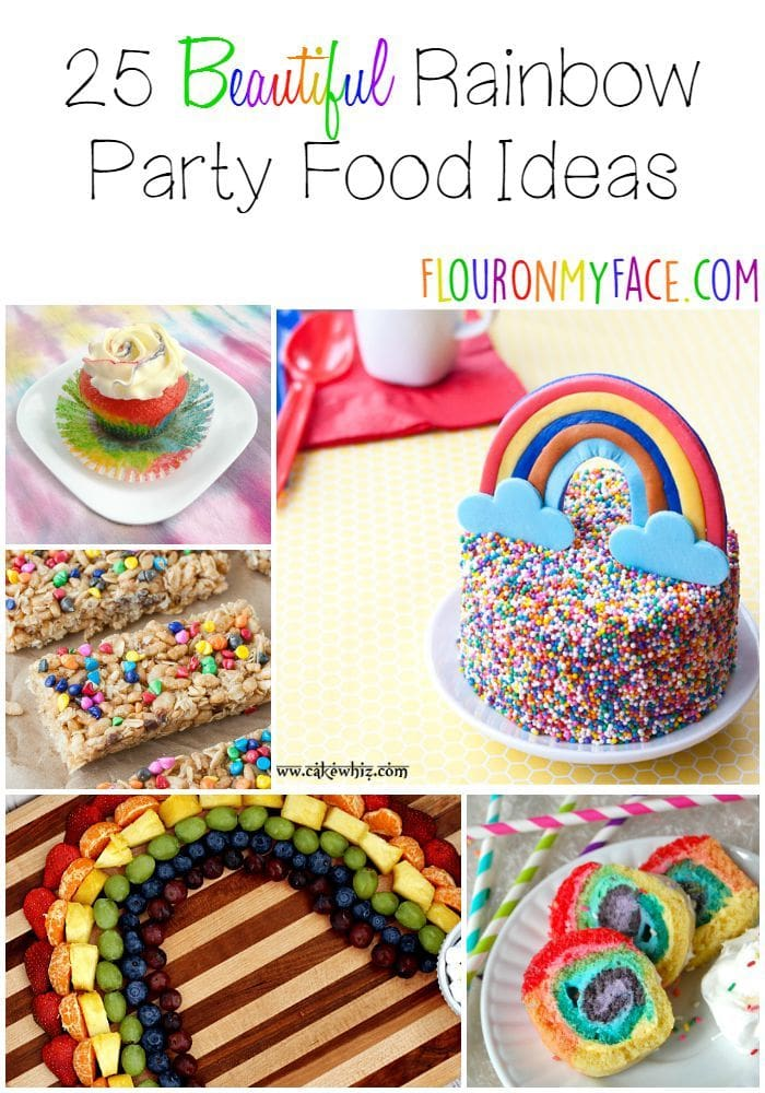 25 Rainbow Party Food Ideas via flouronmyface.com