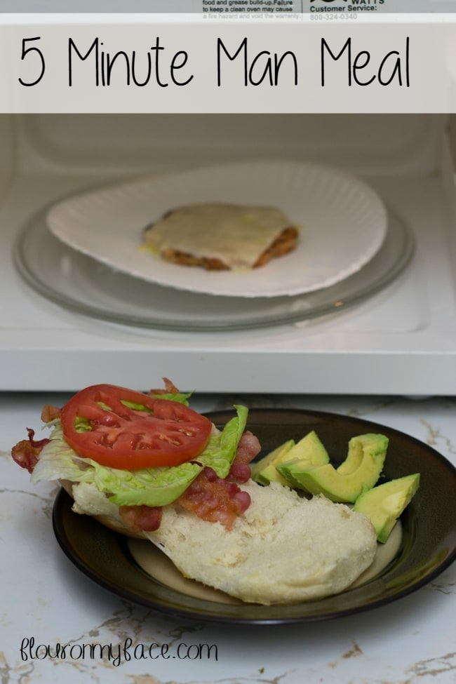 5 Minute Man Meal via flouronmyface.com #shop