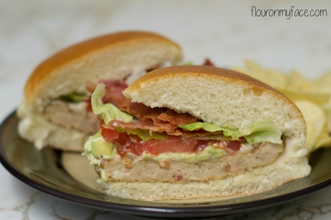 Easy Bacon Cheddar Avocado Burger recipe via flouronmyface.com #shop