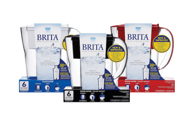 New Brita Space Saver Pitcher is perfect for Back to College via flouronmyface.com