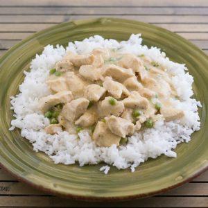 Easy Crock Pot Chicken a la King via flouronmyface.com