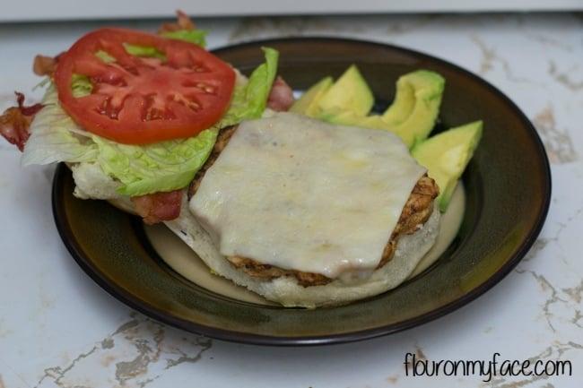 Easy Chicken Burger recipe via flouronmyface.com