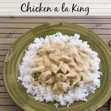 Crock Pot Chicken a la King recipe via flouronmyface.com