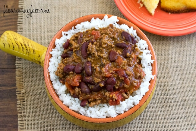 Easy Crock Pot Chili recipe via flouronmyface.com