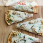 Gluten Free Spinach Chicken Alfredo Pizza #GFreePizzaNight