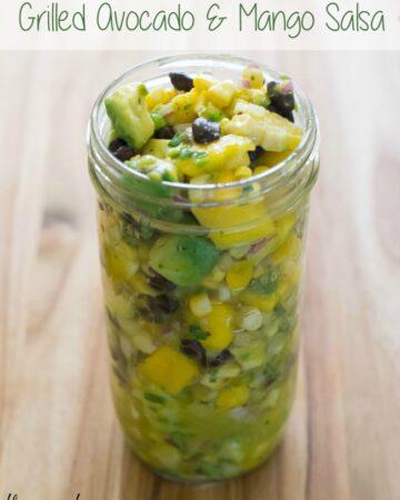 Grilled Avocado and Mango Salsa recipe via flouronmyface.com