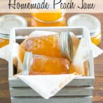 Homemade Peach Jam recipe via flouronmyface.com