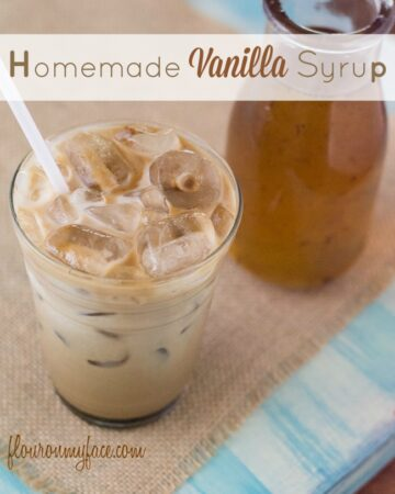 Homemade Vanilla Coffee Syrup recipe via flouronmyface.com