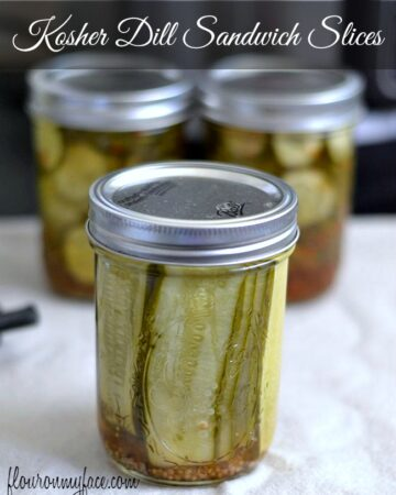 Kosher Dill Pickle Sandwich Slices via flouronmyface.com