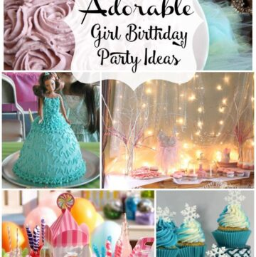 25 Girl Birthday Parties Ideas via flouronmyface.com