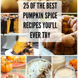 25 Pumpkin Spice recipes via flouronmyface.com
