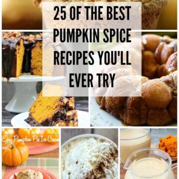 25 Pumpkin Spice recipes via flouronmyface.com