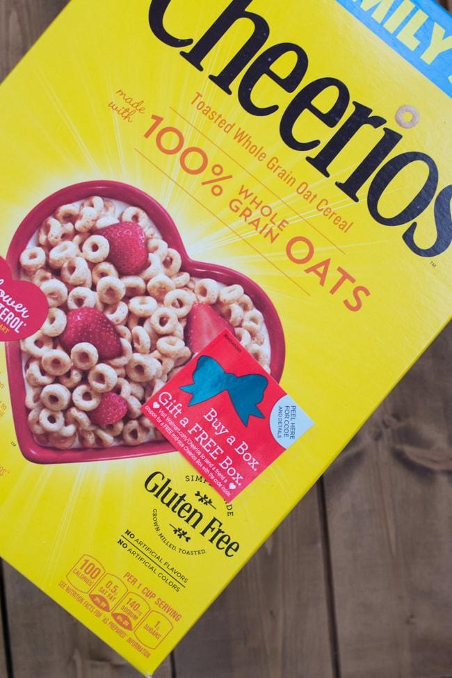 Buy a Box Give a FREE Box Cheerios Label-flouronmyface