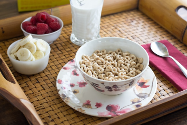 Cheerioes for breakfast via flouronmyface.com