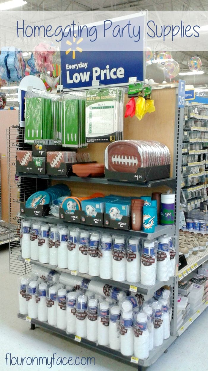 Homegating party supplies at Walmart via flouronmyface.com