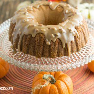 Pumpkin Pecan Bundt Cake with Caramel Pecan Icing recipe for #SundaySuppers Fall Flavors via flouronmyface.com