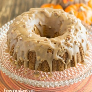 Pumpkin Pecan Bundt Cake with Caramel Pecan Icing recipe via flouronmyface.com for Fall Flavors #SundaySupper