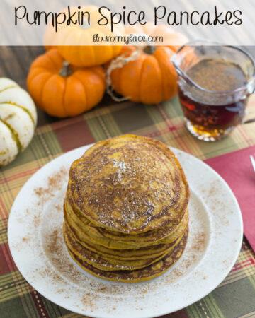 Pumpkin Pancakes recipe via flouronmyface.com