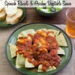 Spinach Ravioli with Garden Vegetable Sauce