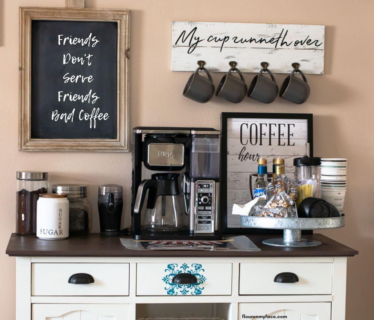 Image of my DIY Coffee Bar.