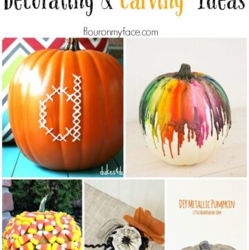 25 Amazing Ways to Decorate a Pumpkin via flouronmyface.com
