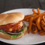 Cheddar BBQ Burger recipe via flouronmyface.com