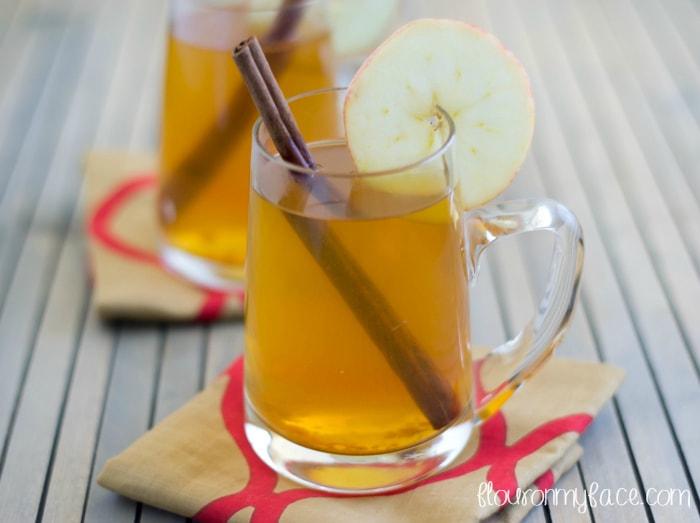 Caramel Apple Cider recipe via flouronmyface.com