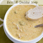 Crock Pot Broccoli Cheddar Soup Recipe via flouronmyface.com
