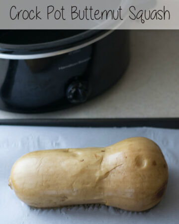 Easy Crock Pot Butternut Squash-No more worries about using a sharp knife to cut through a tough squash peel. via flouronmyface.com