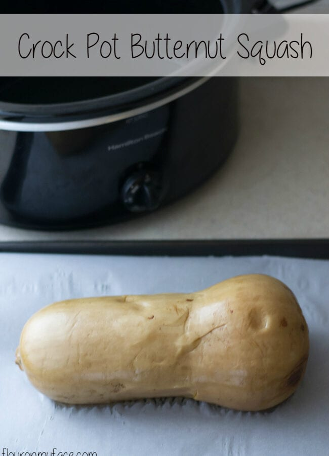 Easy Crock Pot Butternut Squash-No more worries about using a sharp knife to cut through a tough squash peel. via flouronmyface.com