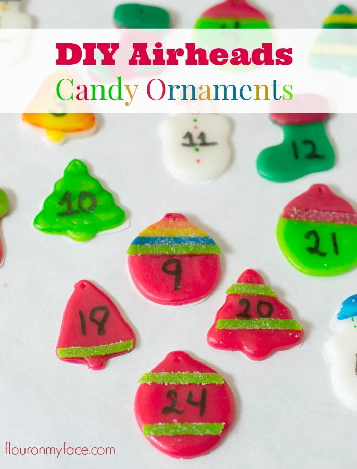 DIY Airheads Candy Ornaments via flouronmyface.com #AirheadsCrafts