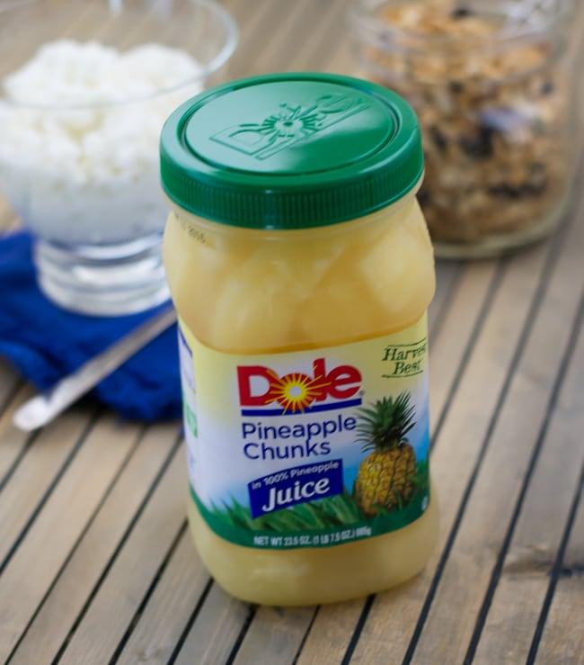 DOLE Jarred Fruit Pineapple Chunks recipe via flouronmyface.com